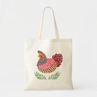 The Brown Hen Budget Tote Bag