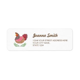 The Brown Hen Return Address Label