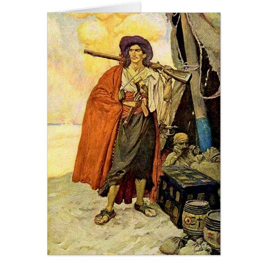 The Buccaneer - pirate art Card