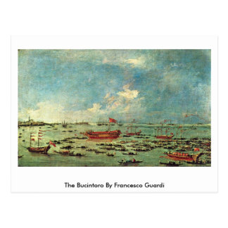 The Bucintoro By Francesco Guardi Postcard