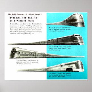 The Budd Company - A Railroad Legend Poster