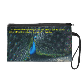 The buddha Quote Wristlet Purse