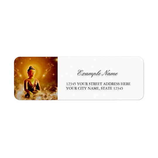 The buddha return address label