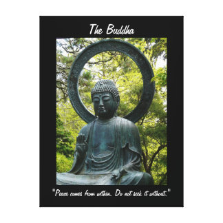 The Buddha-with Quote Canvas Print