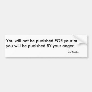 the Buddha's advice on anger Bumper Sticker