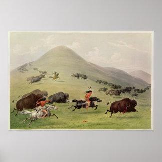 The Buffalo Hunt, c.1832 Poster