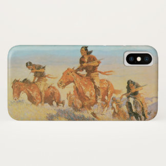The Buffalo Runners, Big Horn Basin by Remington iPhone X Case