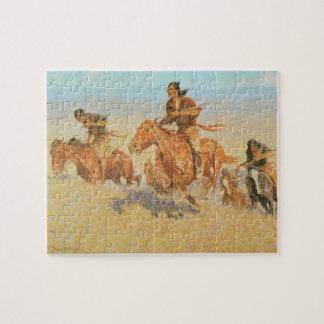 The Buffalo Runners, Big Horn Basin by Remington Jigsaw Puzzle