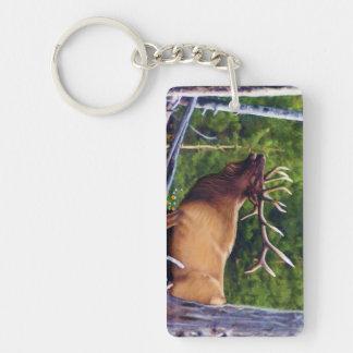 The Bugler Elk Key Ring