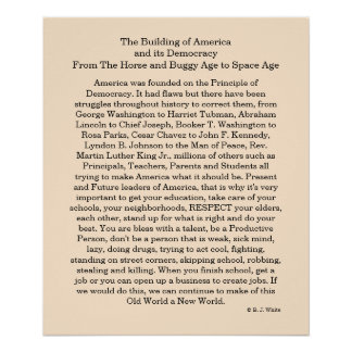 The Building of America and its Democracy Poster