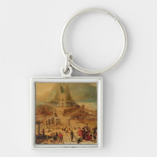 The building of the Tower of Babel (panel) Keychain