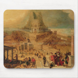 The building of the Tower of Babel (panel) Mouse Pad
