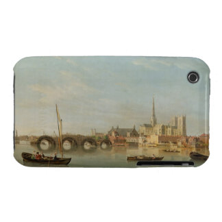 The Building of Westminster Bridge with an imagina iPhone 3 Case