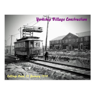 The Building of Yorkship Village (#1 in a Series) Postcard