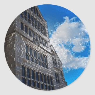 The Building Round Sticker