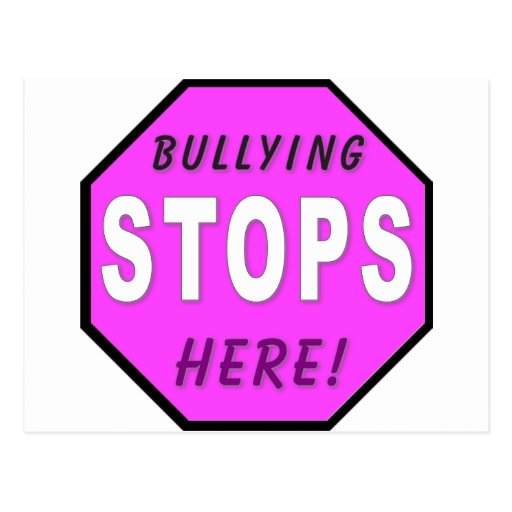 The Bullying Stops Here Post Cards