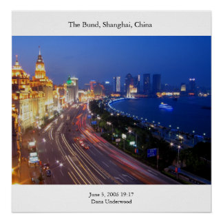 The Bund Photograph Poster