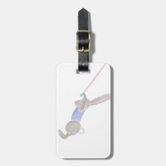 The Bunny On The Flying Trapee Luggage Tag
