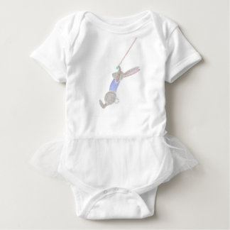 The Bunny On The Flying Trapeze Baby Bodysuit