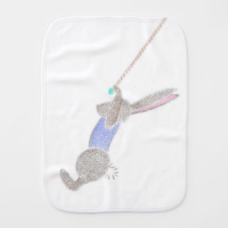 The Bunny On The Flying Trapeze Burp Cloth
