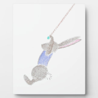 The Bunny On The Flying Trapeze Plaque