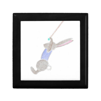 The Bunny On The Flying Trapeze Small Square Gift Box