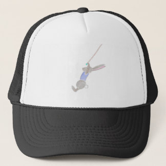 The Bunny On The Flying Trapeze Trucker Hat