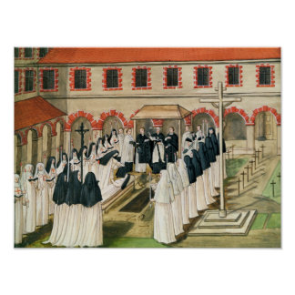 The Burial of a Nun, from 'l'Abbaye de Poster