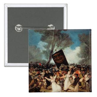 The Burial of the Sardine  c.1812-19 15 Cm Square Badge