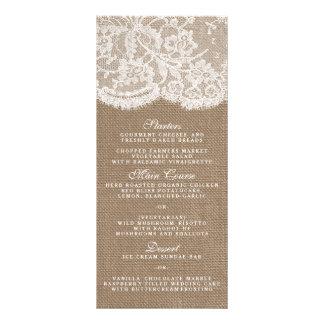 The Burlap & Lace Collection Menu Templates Custom Rack Card