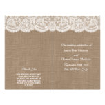 The Burlap & Lace Wedding Collection Programs Flyer Design