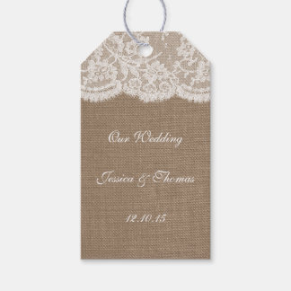The Burlap & Lace Wedding Collection Tags