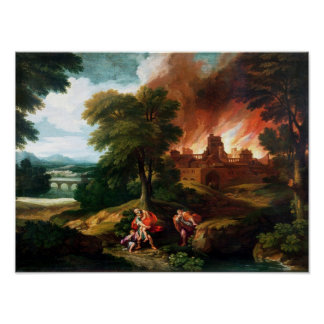 The Burning of Troy Print