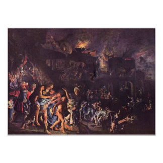 The Burning of Troy Posters