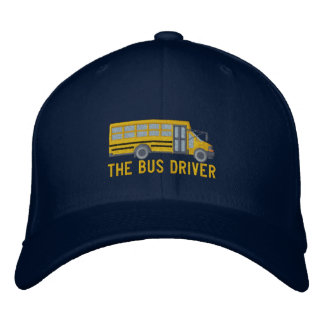 The Bus Driver Custom School Mini Bus Embroidery Embroidered Hat