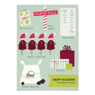 The Business of Christmas Corporate Holiday Card 13 Cm X 18 Cm Invitation Card