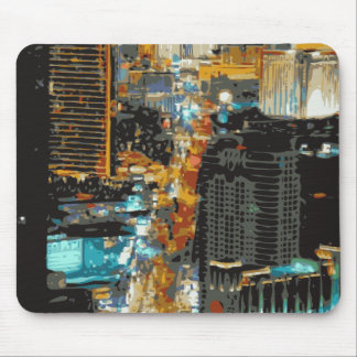 The Bustling Lights of the Las Vegas Strip Mouse Pad