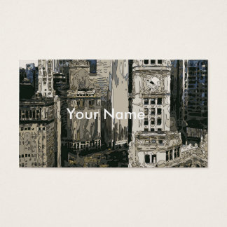 The Bustling Streets of New York City Business Card