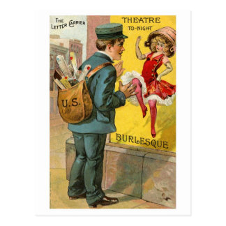 """The """"Busy"""" Mailman Postcard"""