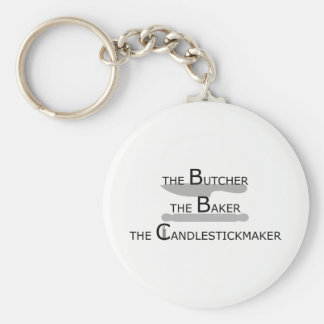 The Butcher The Baker The Candlestickmaker Key Ring