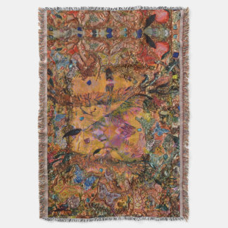 The Butterfly Dance by Deprise Throw Blanket