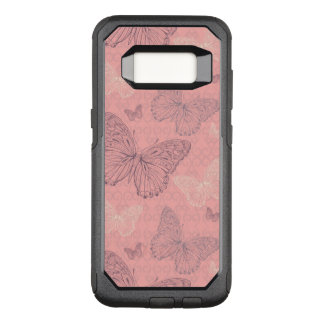 The Butterfly Pink OtterBox Commuter Samsung Galaxy S8 Case