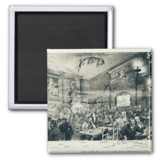 The Cabaret du Chat Noir, 1886 Square Magnet