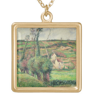 The Cabbage Slopes, Pontoise, 1882 Gold Plated Necklace