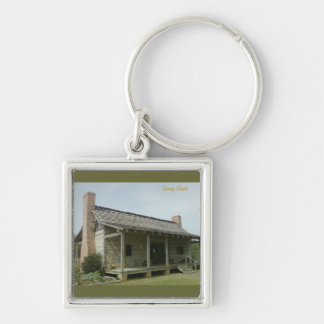 The Cabin Silver-Colored Square Key Ring