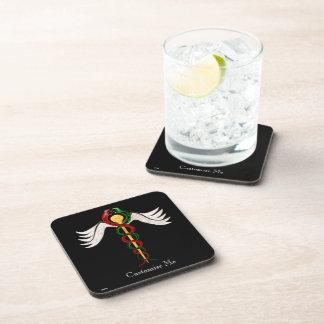 The Caduceus (Full Colour) Beverage Coasters