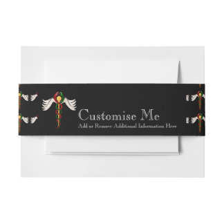 The Caduceus (Full Colour) Invitation Belly Band