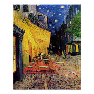 The Cafe Terrace in Arles, at Night - van Gogh Poster