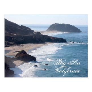 The California coastline at Big Sur Postcard
