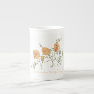 'The California Poppy' China Mug